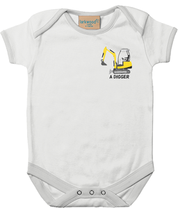 Digger - baby bodysuit
