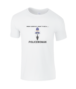 When I Grow Up I Want To Be A Policewoman - kid's t-shirt