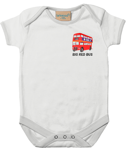 Big Red Bus - baby bodysuit