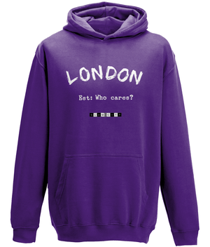 London Est: Who Cares? - youth's hoodie