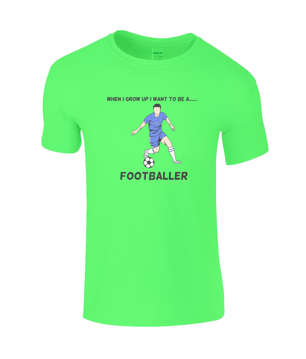 When I Grow Up I Want To Be A Footballer - youth's t-shirt