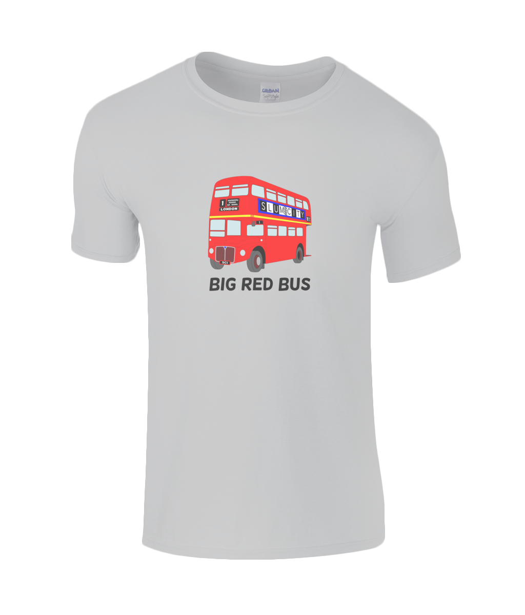 Big Red Bus - kid's t-shirt
