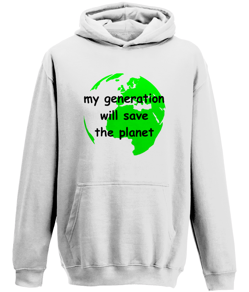 my generation will save the planet - youth's hoodie