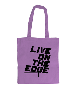 Live On The Edge - tote bag