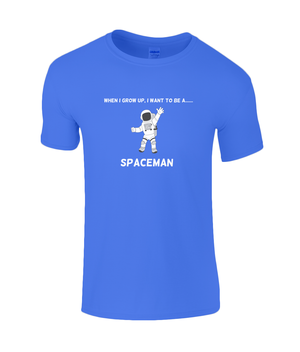 When I Grow Up I Want To Be A Spaceman - kid's t-shirt