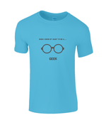 When I Grow Up I Want To Be A Geek - kid's t-shirt