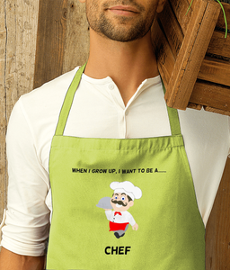 When I Grow Up I Want To Be A Chef - apron