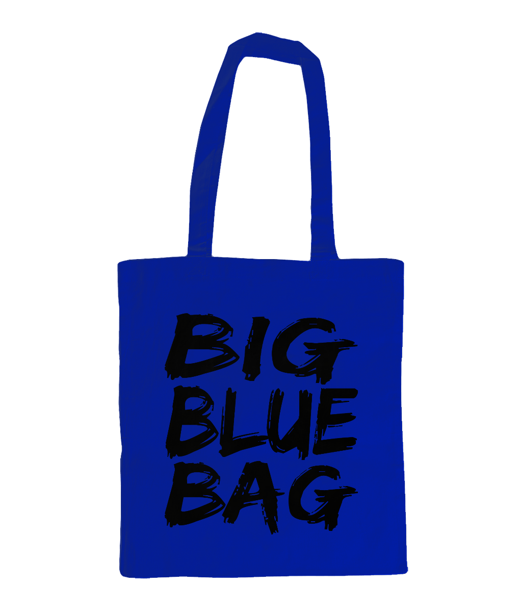 Big Blue Bag - tote bag
