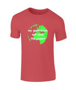 my generation will save the planet - kid's t-shirt