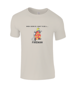When I Grow Up I Want To Be A Fireman - kid's t-shirt