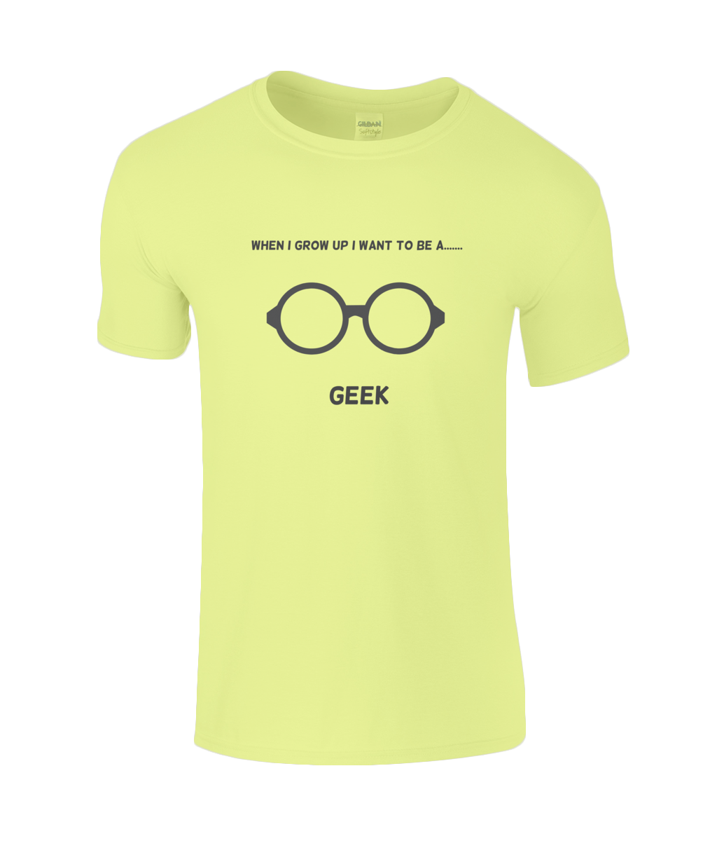 When I Grow Up I Want To Be A Geek - youth's t-shirt