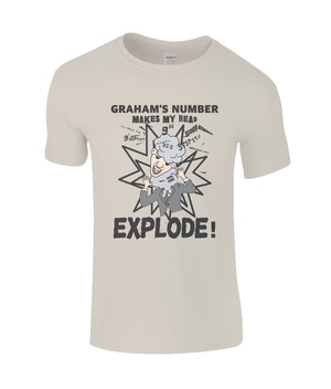 Graham's number makes my head explode - men's t-shirt