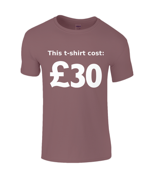 This T-shirt Cost £30