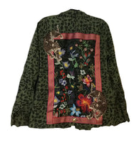 Embroidered forest Military Jacket