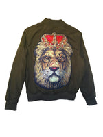 Golden King Lion Green JAcket