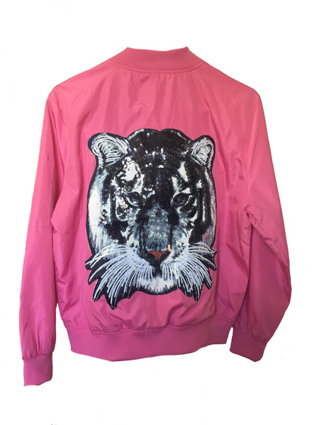 Tiger Pink Bomber Jacket