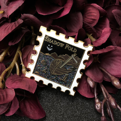 GRADE B - The Shadow Fold - January's Destination Stamp Enamel Pin