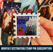 Destination Stamp Enamel Pin - Month-to-Month Subscription