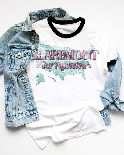 Claremont for America Campaign - Boyfriend Tees