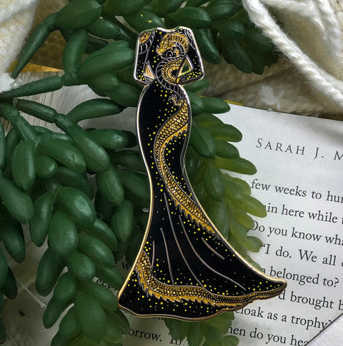 Dragon Dress Novel Threads Enamel Pin - A Grade - Enamel Pin