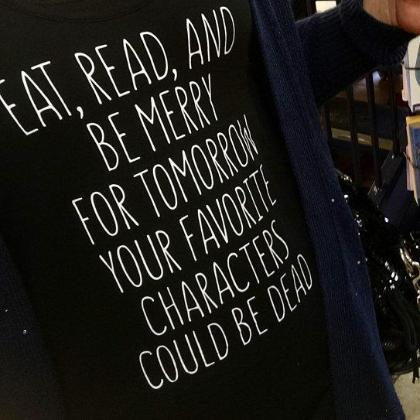 Eat Read and Be Merry - Boyfriend Tees