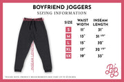 Secret Society Embroidered Boyfriend Joggers - Joggers
