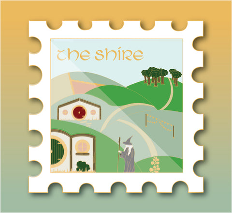 The Shire - October's Destination Stamp Enamel Pin