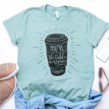 The Table Everyone Wants at Starbucks - Boyfriend Tees