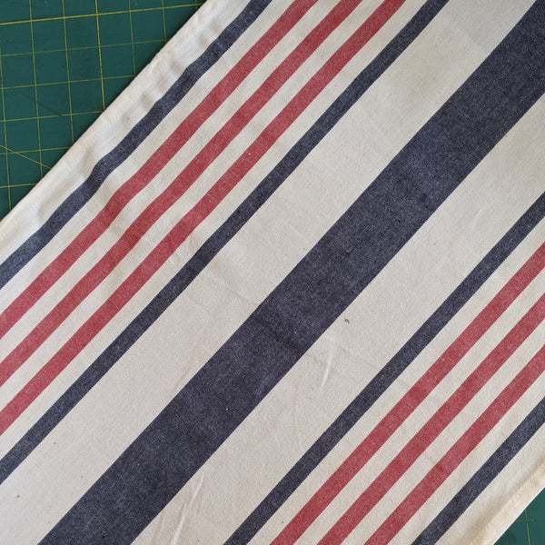 Red, Cream and Blue Stripe