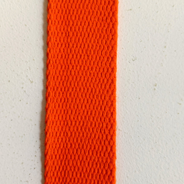 Cotton Webbing 1 1/4 inch - Multiple Colors