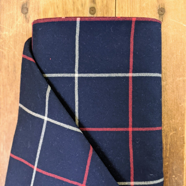 Wool Navy Plaid