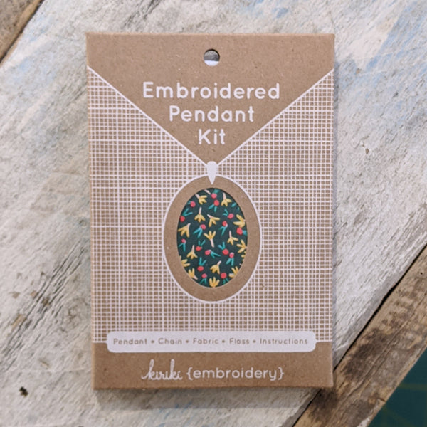 Embroidery Pendant Kit: Fruity