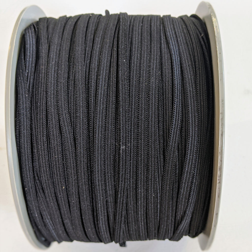 Black Elastic 5 mm (3/16 inch)- 10 Yards