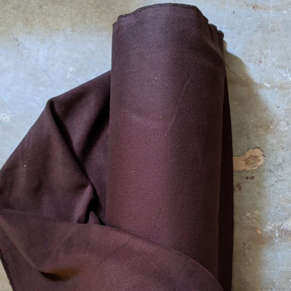 Brushed Cotton : Dark Brown