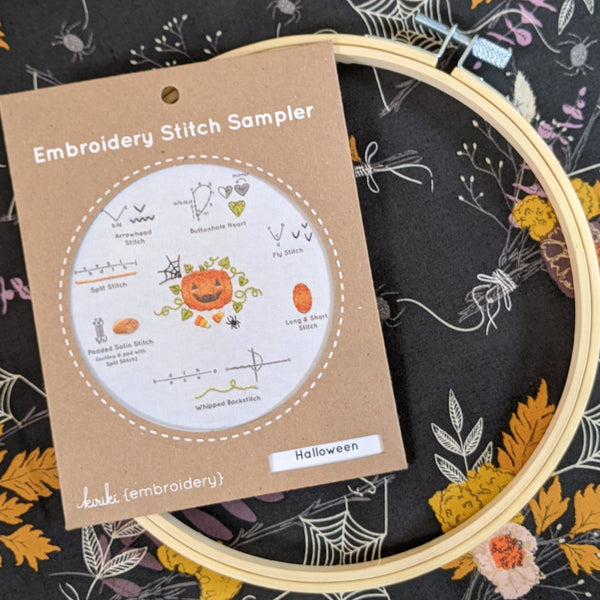 Pumpkin - Embroidery Stitch Sampler