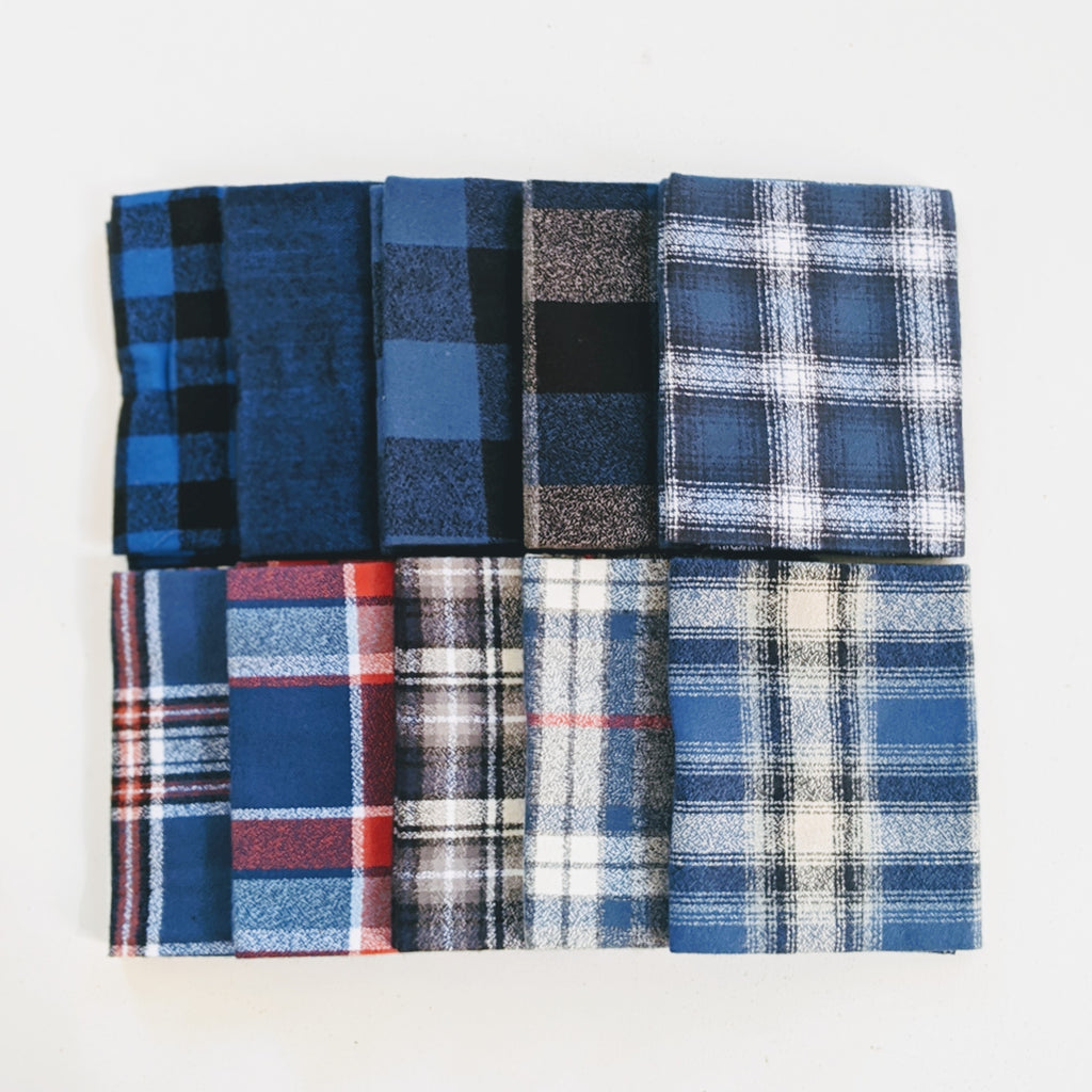 Mammoth Flannel Bundle, Blue Color Story