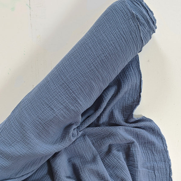 Cotton Double Gauze - Denim