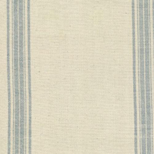 Jardin Natural and Blue Stripe Toweling