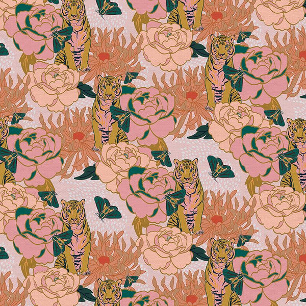 Tiger Lily: Trail Floral in Pink/Gold