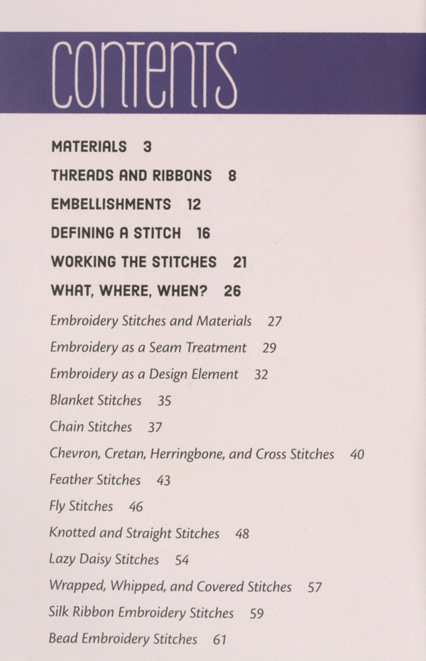 Embroidery Handy Pocket Guide