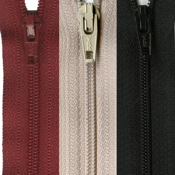 "20"" Closed End Zipper - Multiple Colors"