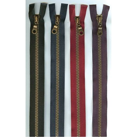 "9"" Brastique Closed End Zipper - Multiple Colors"