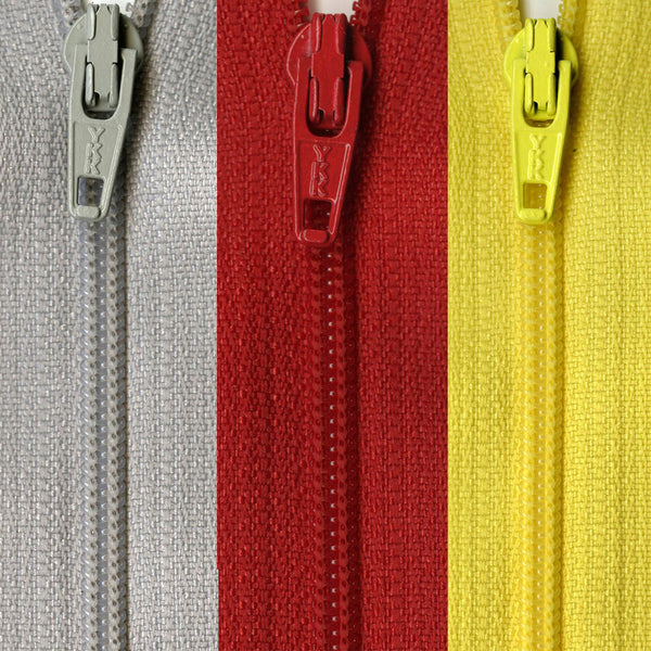 "7"" Closed End Zippers - Multiple Colors"