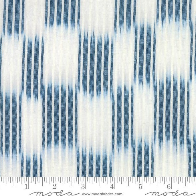 Boro Wovens - Ikat Stripes in Indigo