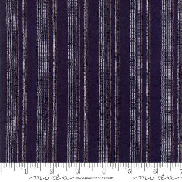 Boro Wovens - Stripes in Dark Indigo