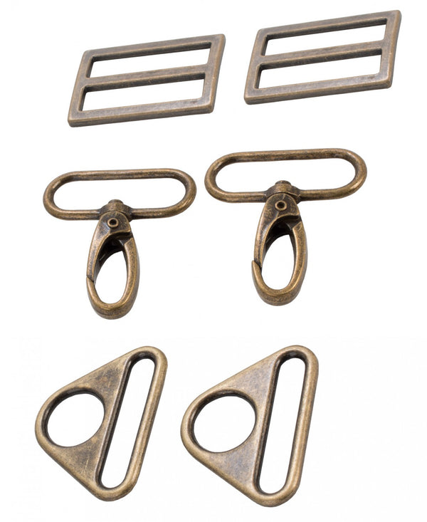 "Bag Hardware Set 1.5"" Multiple Colors"