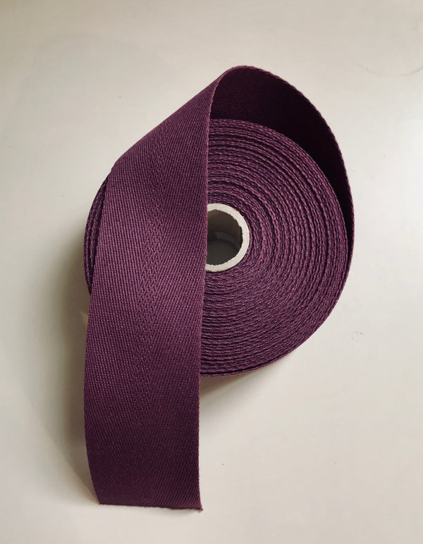 Cotton Webbing 2 inch - Violet, 1 yard cut