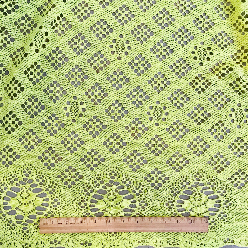 Chartreuse Cotton Lace