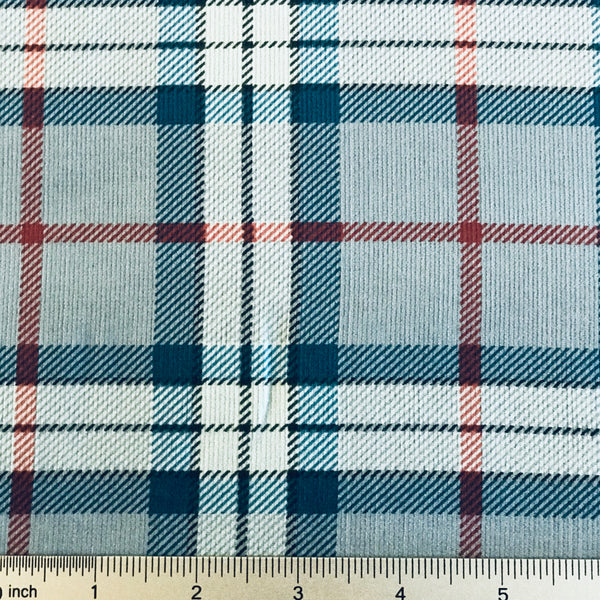 Plaid Corduroy from Japan-Light Blue