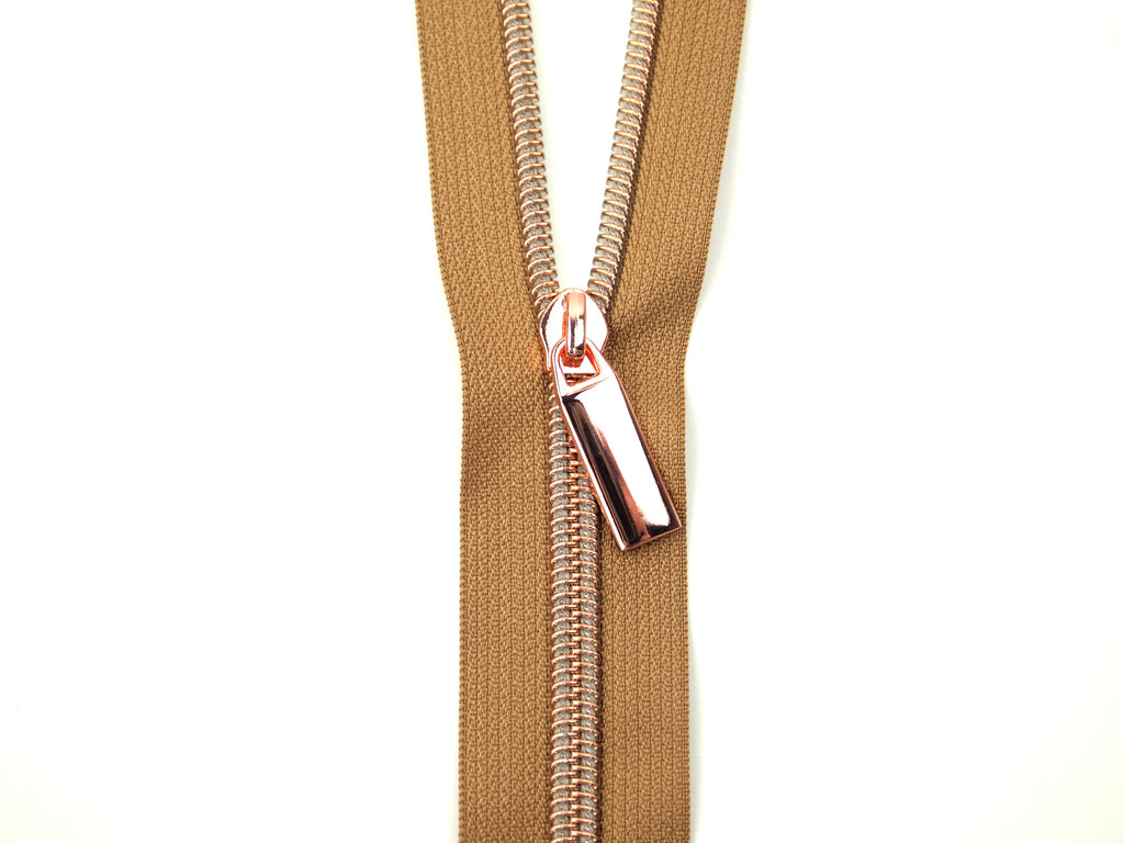 Zipper Tape Natural Rose Gold